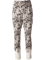 Dolce And Gabbana Lace Print Trouser