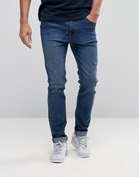 Bellfield Skinny Stretch Washed Indigo Jeans Navy