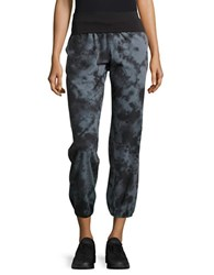 Betsey Johnson Printed Slim Fit Cropped Pants Grey