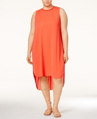 Rachel Rachel Roy Curvy Plus Size Petra High Low Dress Coral
