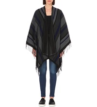 French Connection Knitted Blanket Cardigan Dark Grey Multi