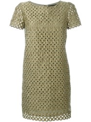 Marco Bologna Lace Cut Out Dress Green