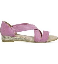 Office Hallie Suede Sandals Pastel Pink Suede