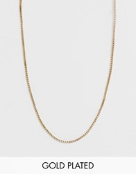 Pilgrim Gold Plated Simple Layering Chain Necklace