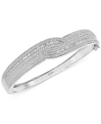 Effy Classique By Diamond Bangle Bracelet 1 3 4 Ct. T.W. In 14K White Gold