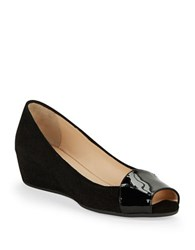 Aquatalia By Marvin K Margaret Peep Toe Wedges Black
