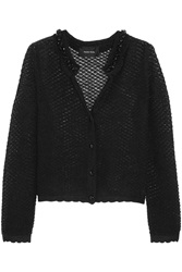 Simone Rocha Embellished Open Knit Mohair Blend Cardigan