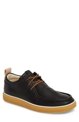 Ecco Crepetray Moc Toe Lace Up Black Leather