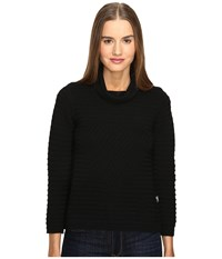 Love Moschino Turtleneck Knit Black Women's Clothing