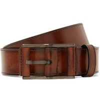 Berluti 3.5Cm Brown Leather Belt Brown