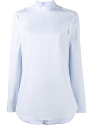 Marie Marot Brooke Long Sleeve Blouse Blue
