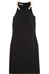Moschino Cheap And Chic Bead Embellished Stretch Crepe Dress
