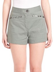 Derek Lam High Rise Shorts Army