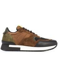 Givenchy Runner Active Sneakers Men Leather Polyester Rubber 44 Brown
