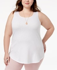 Celebrity Pink Plus Size Tank Top New White