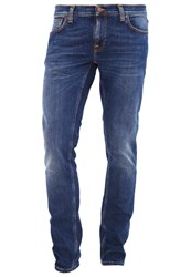 Nudie Jeans Long John Slim Fit Television Blue Blue Denim