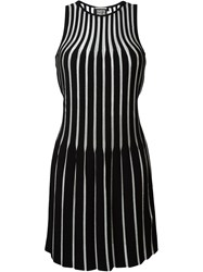 Fausto Puglisi Two Toned Ribbed Dress Black