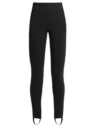 Balenciaga Pintuck High Rise Leggings Black