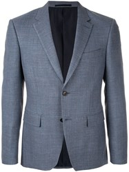 Kent And Curwen Classic Tailored Blazer Blue
