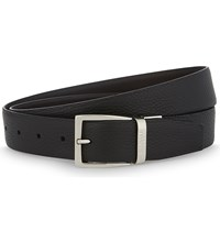 Canali Two Tone Reversible Leather Belt Brown