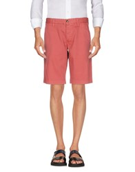 Blauer Bermudas Brick Red
