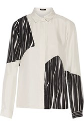 Raoul Oak Printed Silk Shirt White