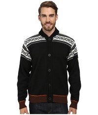 Dale Of Norway Cortina Bomber Jacket F Black Off White Sunset Bitter Chocolate Men's Jacket