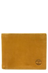 Timberland 'S Icon Leather Wallet Beige Wheat
