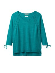 White Stuff Petunia Tie Sleeve Jumper Green