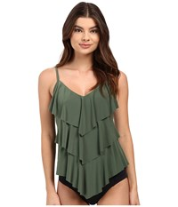 Magicsuit Solids Rita Top Olive Women's Swimwear