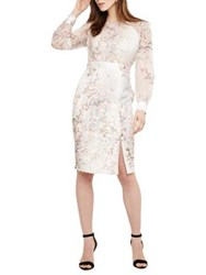 Phase Eight Nissa Floral Sheath Dress Buttermilk