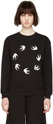 Mcq By Alexander Mcqueen Black Round Swallows Pullover