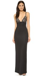 Aq Aq Hype Maxi Dress Black Nude