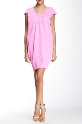 Vertigo Short Sleeve Scoop Neck Dress Pink