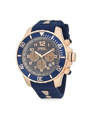 Kyboe Empire Stainless Steel Chronograph Strap Watch Royal Blue