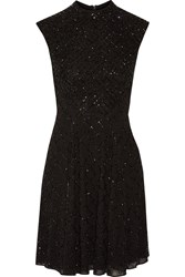 Needle And Thread Beaded Crepe Mini Dress Black
