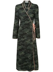 The Upside Camouflage Wrap Dress Green