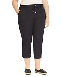 Ralph Lauren Plus Cargo Cropped Pants Black