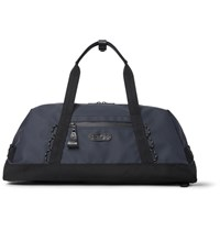 Master Piece Slick Waterproof Rubberised Leather And Cordura Convertible Bag Midnight Blue