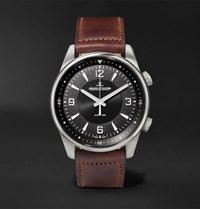 Jaeger Lecoultre Polaris Automatic Stainless Steel And Leather Watch Black
