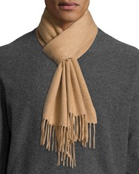 Neiman Marcus Solid Cashmere Scarf Camel Brown Sugar
