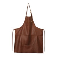 Dutchdeluxes Zipper Style Leather Apron Classic Brown