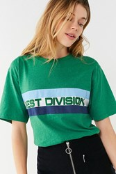 Urban Outfitters West Division Striped Tee Green