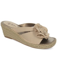 Life Stride Benefit Wedge Sandals Women's Shoes Nude