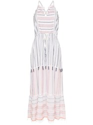Lemlem Zehna Striped Maxi Dress White