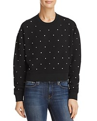 Aqua Studded Sweatshirt 100 Exclusive Black