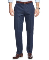 Alfani Red Big And Tall Sateen Flat Front Dress Pants Only At Macy's Dark Blue