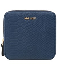 Nine West Small Zip Around Indexer Wallet French Navy