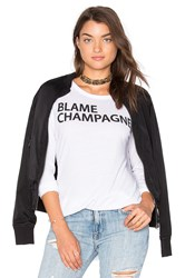 Chaser Blame Champagne Tee White