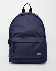 Lacoste Logo Backpack Navy Blue